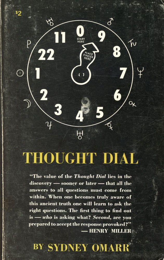 Thought Dial. Sydney OMARR, Introduction Carl Payne Tobey.