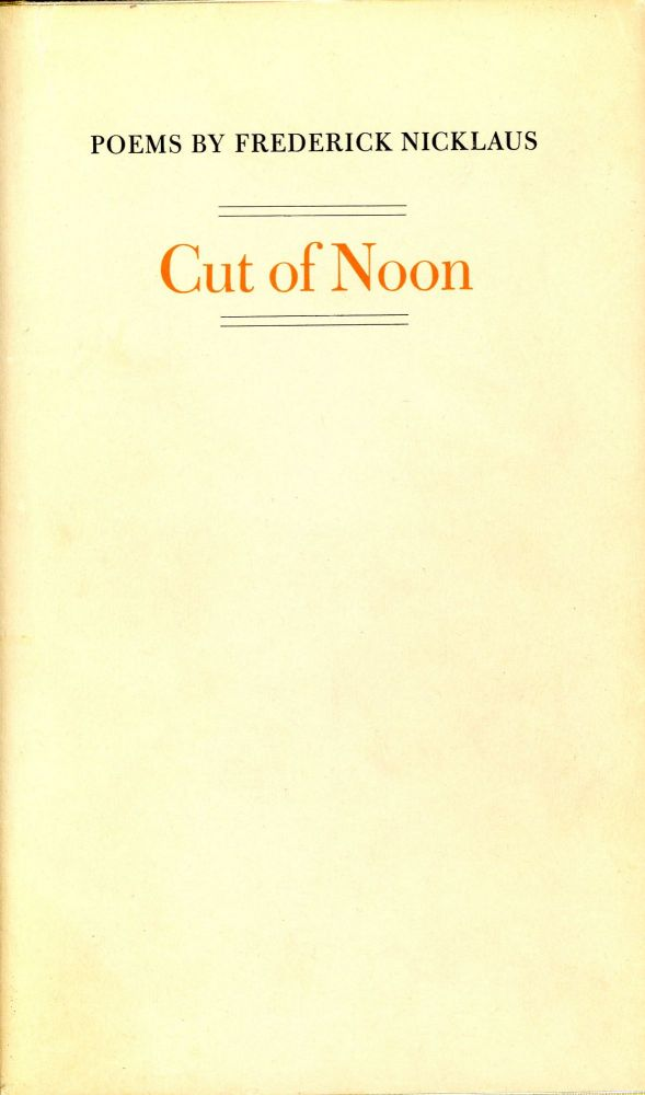 Cut of Noon. Frederick NICKLAUS.