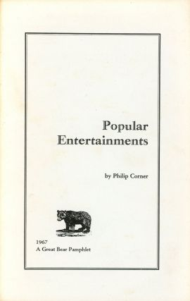 Popular Entertainments (A Great Bear Pamphlet
