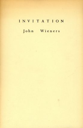 Invitation. John WIENERS