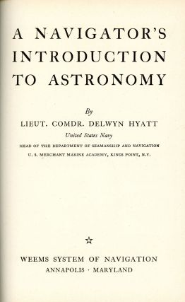 A Navigator's Introduction to Astronomy